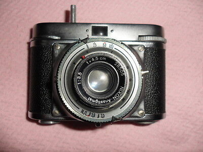 ideal color vintage camera and case made in germany