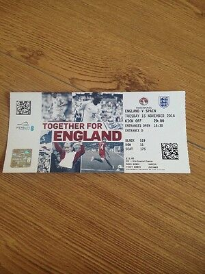 Mint Ticket England v Spain at Wembley 2016