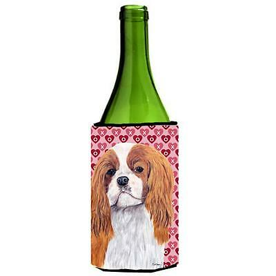 Cavalier Spaniel Hearts Valentines Day Portrait Wine bottle sleeve Hugger