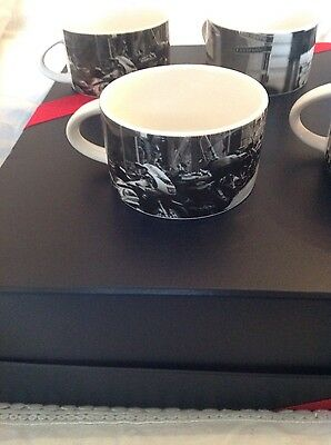 gorgeous vintage BritishAirways royal doulton black and white picture cups