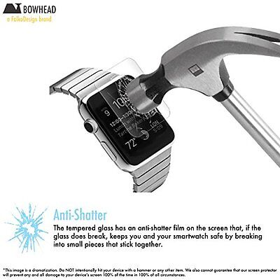 TEMPERED GLASS Screen Protector Film Accessories For iWatch 38MM APPLE WATCH 1