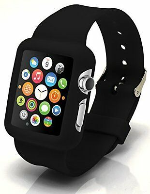 INK BLACK Cover Protector Sleeve Case Bumper Skin For iWatch 38MM APPLE WATCH 1