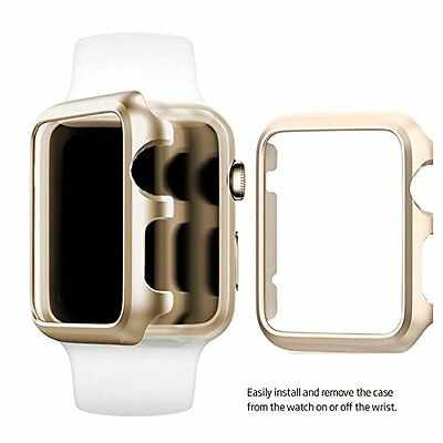 CHAMPAGNE ALUMINUM Cover Protector Case Bumper For iWatch 42MM APPLE WATCH  1