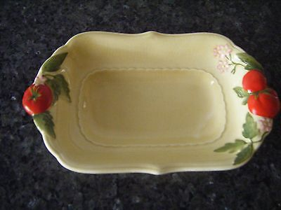Mintons dish bowl Art Deco with tomatoes and flowers