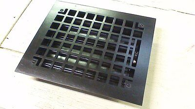 Vintage Victorian Heat Grate Register Cast Iron 11 3/4 x 9 3/4 RESTORED!