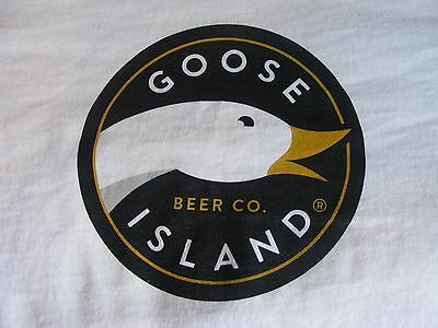 NEW! - GOOSE ISLAND Brewery -- Craft Micro Brew Beer  Promo Large  T Shirt