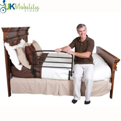 Folding Bed Guard Safety Rail Bedside Support Grab Rail