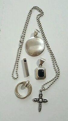 SILPADA Signed Sterling Silver Retired Necklace Pendant Lot