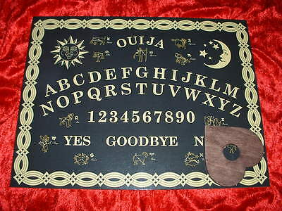 Wooden Zodiac Ouija Board With Wooden Planchette / Pointer