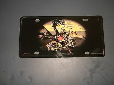Betty Boop Plastic Car Plate Used