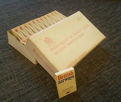 Collectable Vintage British Airways Matchbook trade box. 50 books Bryant & May