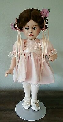 """Doll With Bisque China Head, Arms, And Legs Signed, Dated & Numbered 13"""" Tall"""