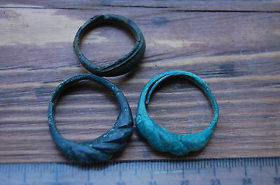 Ancient Vikings bronze rings