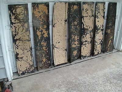 Antique tin ceiling panels (20 pieces) 12 X 48 = 80 Sq. Ft  - Daisy pattern