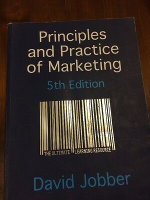 Principles and Practice Of Marketing Fifth Edition David Jobber