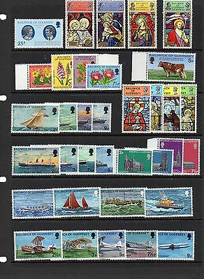 GUERNSEY Selection of 35 MNH Issues, including sets.