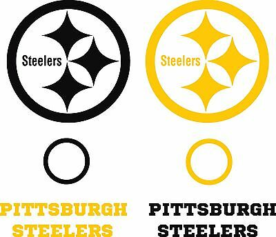 """Steelers Corn hole Set of 6 Vinyl Decal Stickers Pittsburgh Bean Bag Toss """"USA"""""""