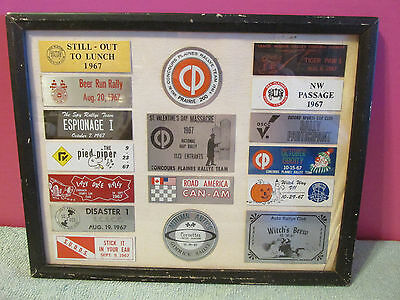 17 car club Corvette sign 1967 plaque CP Concours plaines auto rally beer racing