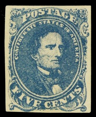 CSA 4, Unused 5¢ Confederate Stamp VF Cat $425.00 - Stuart Katz