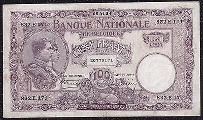 100 Francs From Belgium 5.1.24