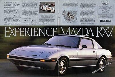 1984 Experience Mazda RX-7 Nice 2 Pg Foldout Ad