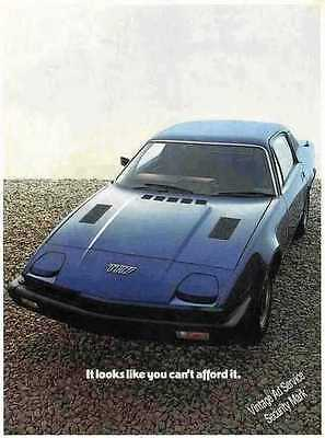 """1977 Triumph TR7 """"Looks like you can't afford it"""" UK Ad"""