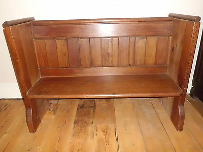 Small Antique Church Pew /bench, Victorian Gothic.