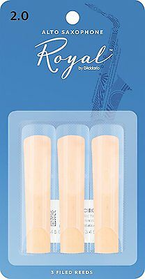 Royal By D'Addario (Rico Royal) Alto Saxophone Reeds - 3 Pack, Strengths 1.5-3