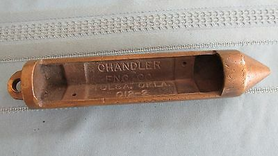 Antique Heavy Cast Brass Chandler Engineering Company Tulsa Oklahoma Part