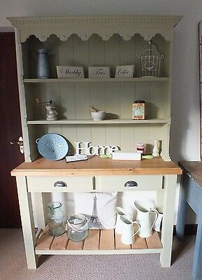 Rustic Vintage French Style Country Pine & Oak Farmhouse Kitchen Dresser