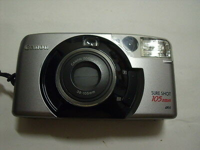 Canon Sureshot 105 Zoom Camera With Case And New Battery