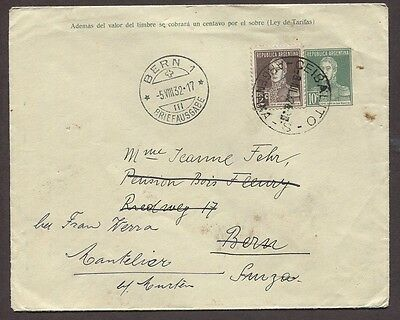 Argentina 1932 Airmail Uprated Ps Cover Ceibalito Salta To Bern Switzerland