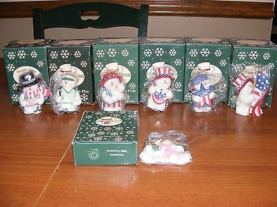 Sarah's Attic Snowonders From The Heart Lot of 7 *NICE LOT* In Boxes