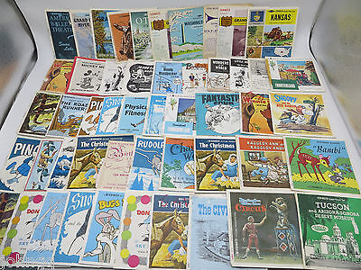 View-Master Lot of 50 Reel Set Booklets - no reels, booklets only