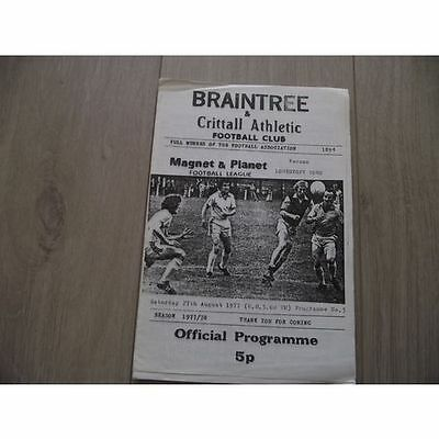 1977-78 Braintree v Lowestoft Town