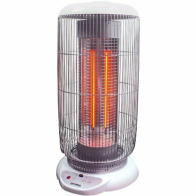 """OSCILLATING OPTIMUS H-84001 22"""" TALL CARBON BARREL HEATER with REMOTE CONTROL"""