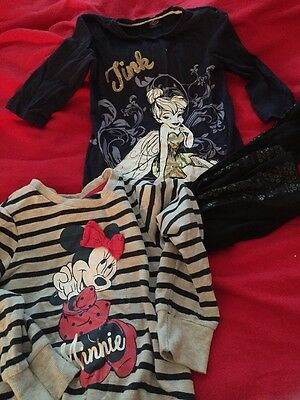 Disney Tinkerbell Outfit And Minnie Jumper Age 5-6