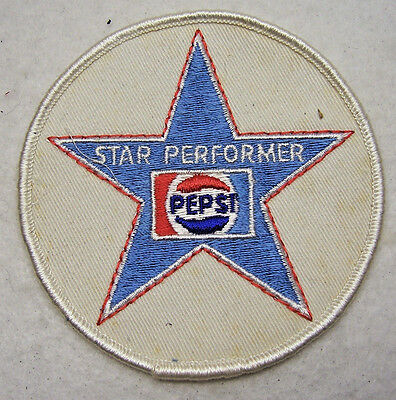 """PEPSI COLA PATCH ~ Star Performer, Embroidery Patch, Sew-On, 3 1/2"""" Inches"""