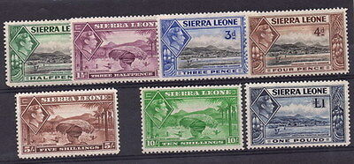 Stamps Sierra Leone King George VI selection to £1 mint