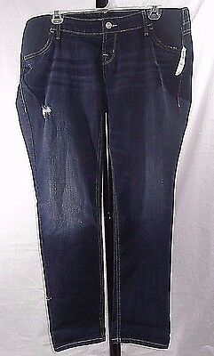 Old Navy Women's Maternity Boyfriend Distressed Side Panel Jeans Size 8 NWT
