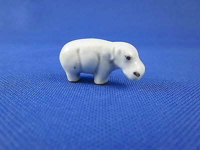 Vintage Miniature Porcelain Hippopotamus Hippo Most Likely Made Japan