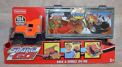 Fisher Price Big Rig Rock & Rumble  Shake N Go 4 Wheel Drive With Sound Rare