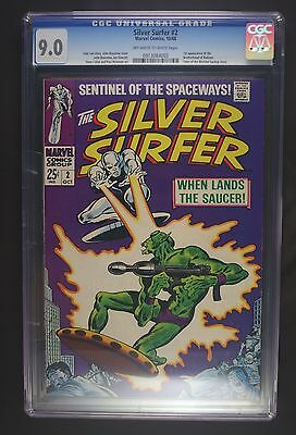 Silver Surfer 2 first series CGC 9.0 OW-WP, 1st Brotherhood of Badoon, 10/68