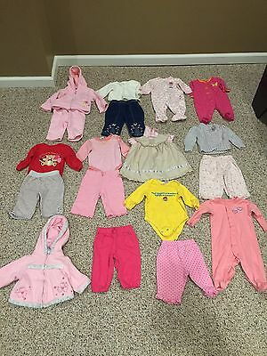 18 Piece Lot Girls 3-6 Months Fall Clothes Very Good Condition