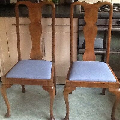 1920s High Back Dining Chairs X 2