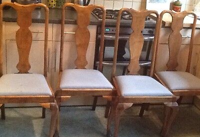 1920s High Back Dining Chairs X 4