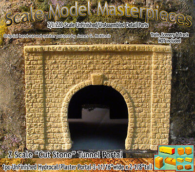 """Z Scale """"Cut Stone"""" Tunnel Portal Scale Model Masterpieces *NEW PRODUCT!*"""