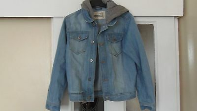 Children's Denim Jacket With Hood For 10 To 11 Year Olds