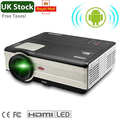 Built-In Android WiFi 4000lm Big Screen Home Cinema 1080p HD Projectors HDMI USB