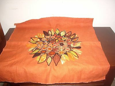 Fab Vintage Completed Embroidery Project Circa 1970s Cushion Front?
